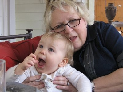 Granny and Audrey have some fun together.