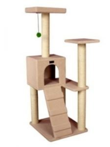 cat tree house with sisal
