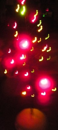 Beautiful lights help to bring joy at Christmastime.