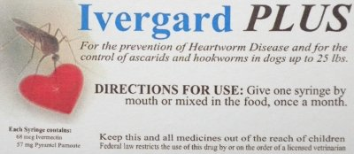 """Somebody sold this """"stuff"""" to a lady as """"heartworm preventive.""""  There are multiple FDA violations pictured."""