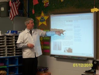 Dr. Randolph at the SmartBoard with MyPetsDoctor.com.