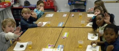 The kids really enjoyed their doughnuts and juice, but they were ready for the main event.