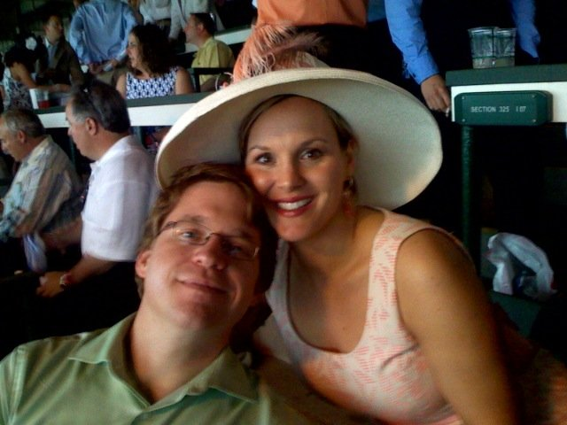 Jeremy and Regina in Louisville, KY, home of the Kentucky Derby