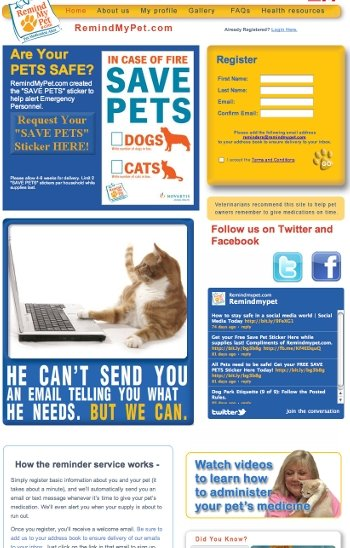 RemindMyPets.com is an exciting site that will remind you to administer your pets' medications.