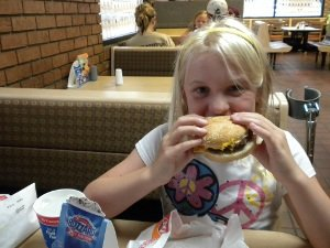 Saturday, after a HUGE lunch, we had supper at Dairy Queen.