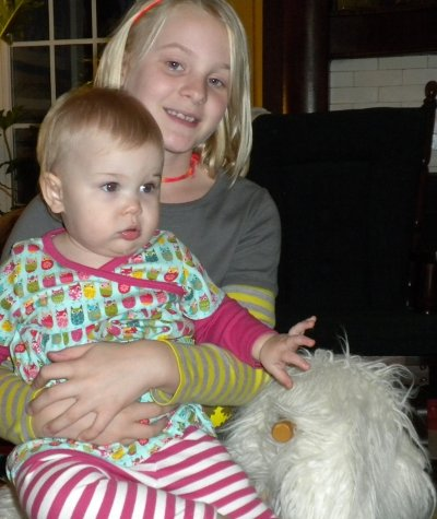 Sara Riley is now old enough to babysit cousin Audrey.  With some adult help, that is.
