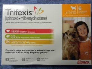 Trifexis is heartworm prevention that includes flea control AND prevention for hookworms, whipworms and roundworms.